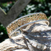 Thin Fender Gold Plated and Sterling Silver Cuff Bracelet