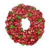 Red Hydrangea Wreath