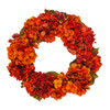 Autumn Orange Hydrangea Wreath