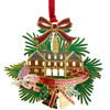 Colonial Capitol with Holly Etched Holiday Ornament
