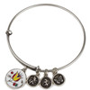 Enamel Flower Charm Bangle