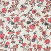 Colonial Williamsburg Reproduction Fabric - Trailing Blossoms on Cream 100% Cotton Fabric