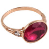 Red Crystal Rose Gold Reproduction Ring | The Shops at Colonial Williamsburg