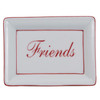 "Red ""Friends"" Rectangular Tray"