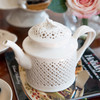Creamware Pierced Teapot with Lid