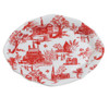 Red Townscape Toile Oval Ring Tray