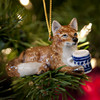 Fox with Mug Ornament