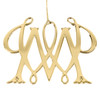 Gold William and Mary Cypher Ornament