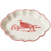 Winter Homestead Scalloped Oval Dish