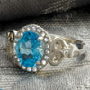 Abby Heart Ring Blue Topaz
