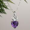 Abby Heart Amethyst Pendant