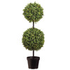 Double Ball Topiary with Lights