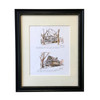 """The Prentis Store Then and Now"" Black Framed Print 