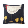Hen with Three Chicks Hooked Pillow   The Shops at Colonial Williamsburg