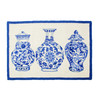 Blue and White Chinoiserie Vases Wool Hook Rug | The Shops at Colonial Williamsburg