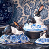 Vaillancourt Black and White Bunny on Delft Egg - Vaillancourt Delft Collection | The Shops at Colonial Williamsburg