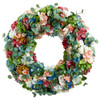 Hydrangea and Eucalyptus Wreath - 27"