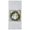 Boxwood Window Embroidered Dishtowel | The Shops at Colonial Williamsburg