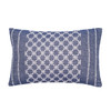Markle Woven Accent Pillow - Navy | The Shops at Colonial Williamsburg