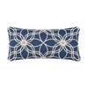 Blue and Cream Embroidered Accent Pillow | The Shops at Colonial Williamsburg