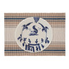 French Blue Stripe Table Linens - placemat with Christiana Campbell's Tavern Dinnerware   The Shops at Colonial Williamsburg