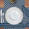 Markle Woven Table Linens - Navy | The Shops at Colonial Williamsburg