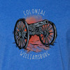 Colonial Williamsburg Revolutionary War Cannon Adult T-Shirt - Royal Blue