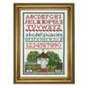 Colonial Williamsburg Gardens Petite Sampler Counted Cross Stitch Kit | The Shops at Colonial Williamsburg