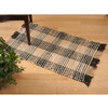 Black and Khaki Booker Plaid Rug | The Shops at Colonial Williamsburg