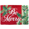 """Be Merry"" Hooked Wool Rug 