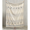 Cream & Grey Pattern Stripe Throw with Braided Tassels | The Shops at Colonial Williamsburg