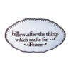 """Follow Peace"" Verse Dish  | The Shops at Colonial Williamsburg"