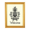 "Williamsburg ""Welcome"" Black Pineapple Counted Cross Stitch Kit 