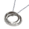 """""""Love is Patient"""" Silver Pendant 