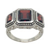 Triple Garnet Silver Ring | The Shops at Colonial Williamsburg