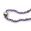 Purple Agate Rosary Necklace
