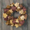 Golden Fig Leaf Wreath 29"