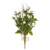 """Mixed Herb and Floral Bouquet, 17"""""""