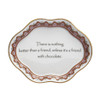 """""""A Friend With Chocolate"""" Verse Dish   The Shops at Colonial Williamsburg"""
