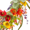 """Poppy and Wildflower Wreath 22""""   The Shops at Colonial Williamsburg"""