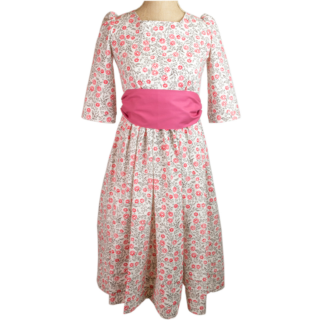 Cascading Floral Girl's Gown and Sash