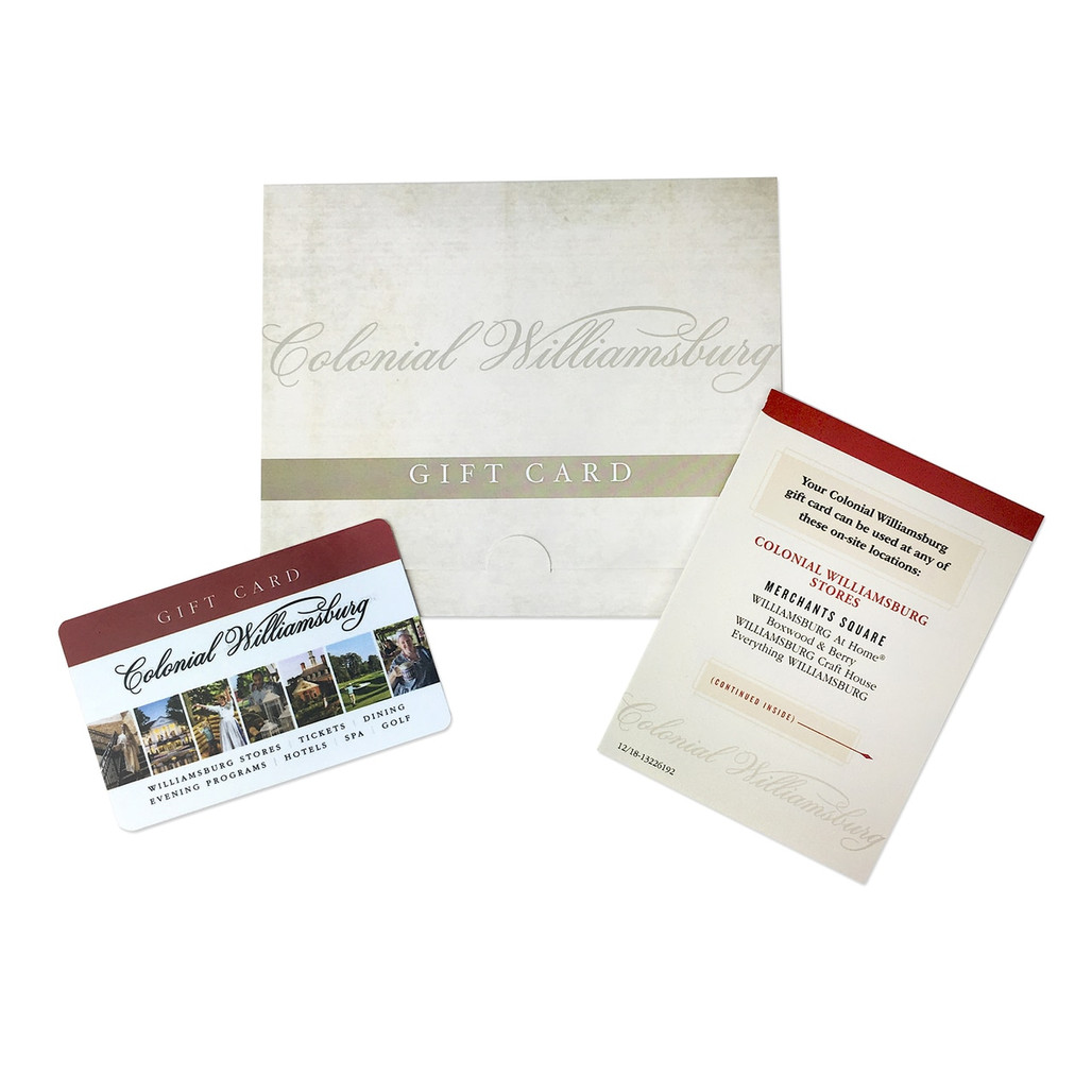 Colonial Williamsburg Gift Card | The Shops at Colonial Williamsburg