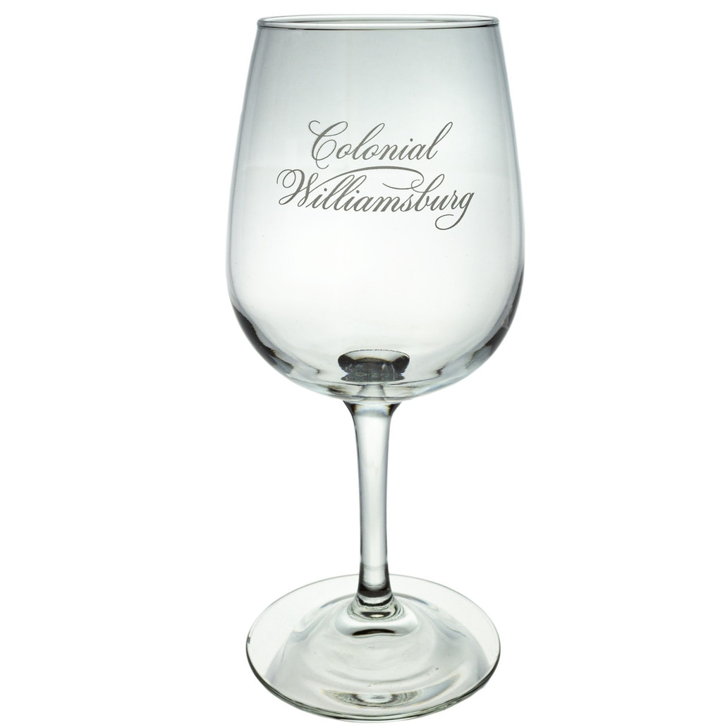 CW Etched  Wine Glass with Stem