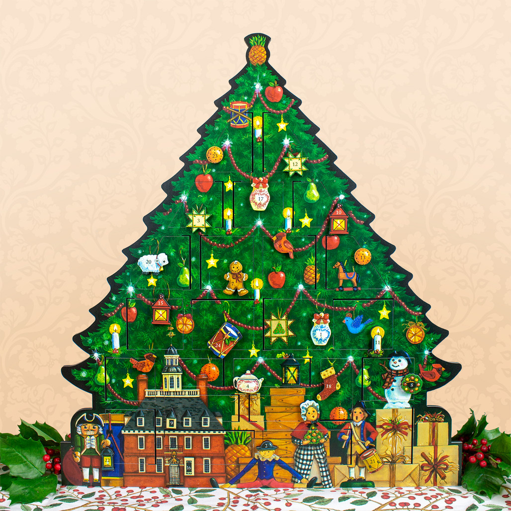 Christmas Tree From Wood: Wood Christmas Tree Advent Calendar