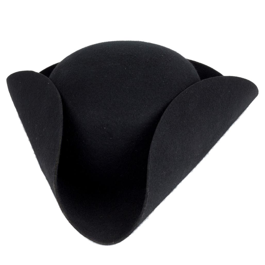 Men's Cocked Black Hat