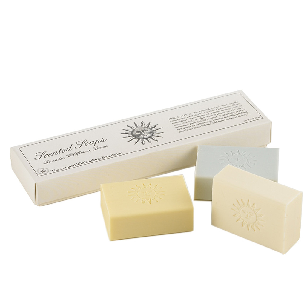 Wildflower, Lemon and Lavender Soap Bar Set