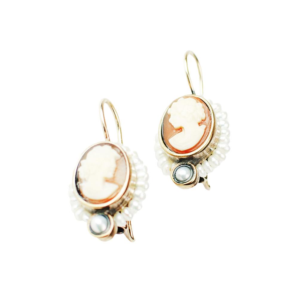 Cameo Shell Earrings