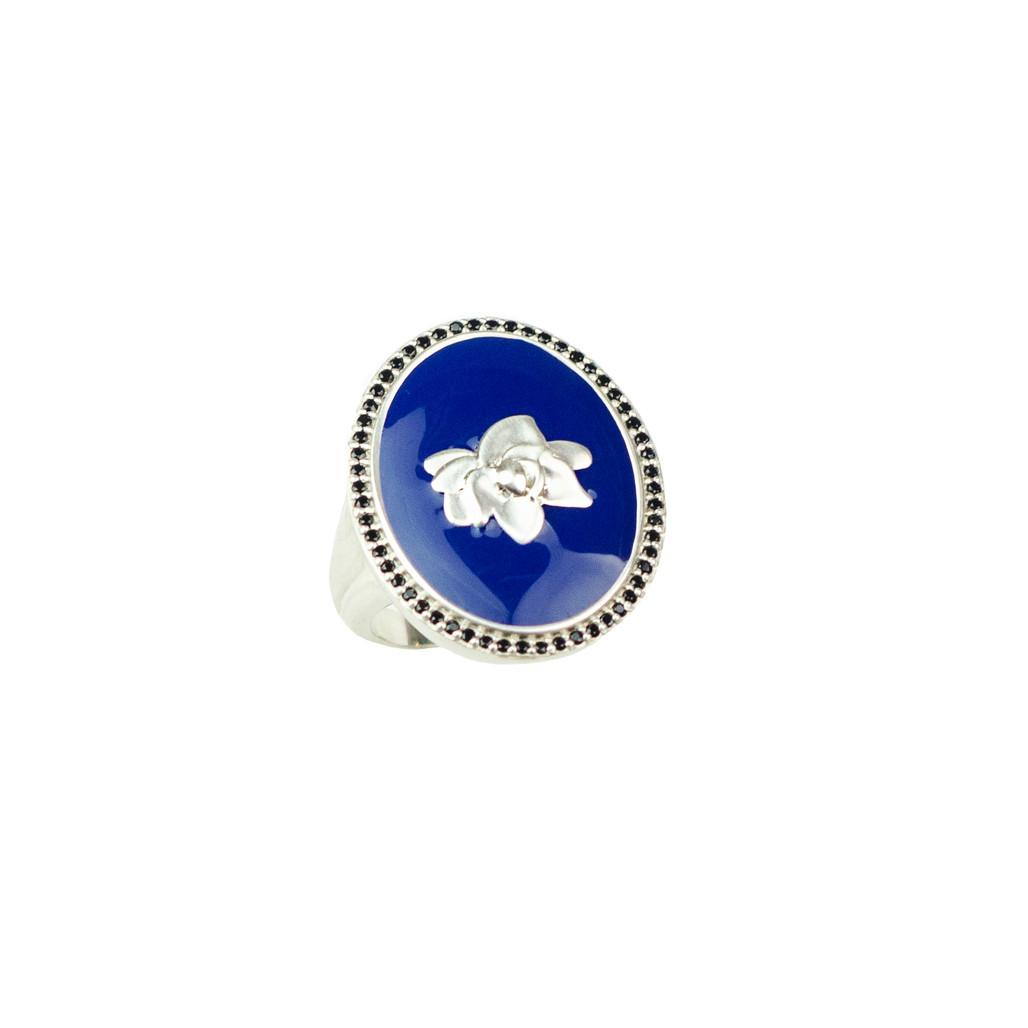 Navy Enamel Ring