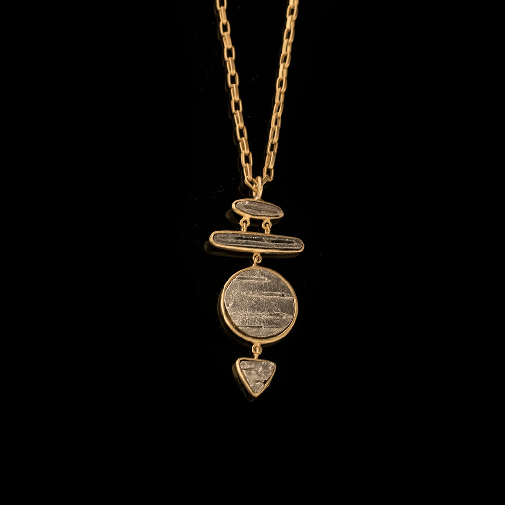 Michael Michaud Birch Silver & Gold Four Tier Pendant Necklace | The Shops at Colonial Williamsburg