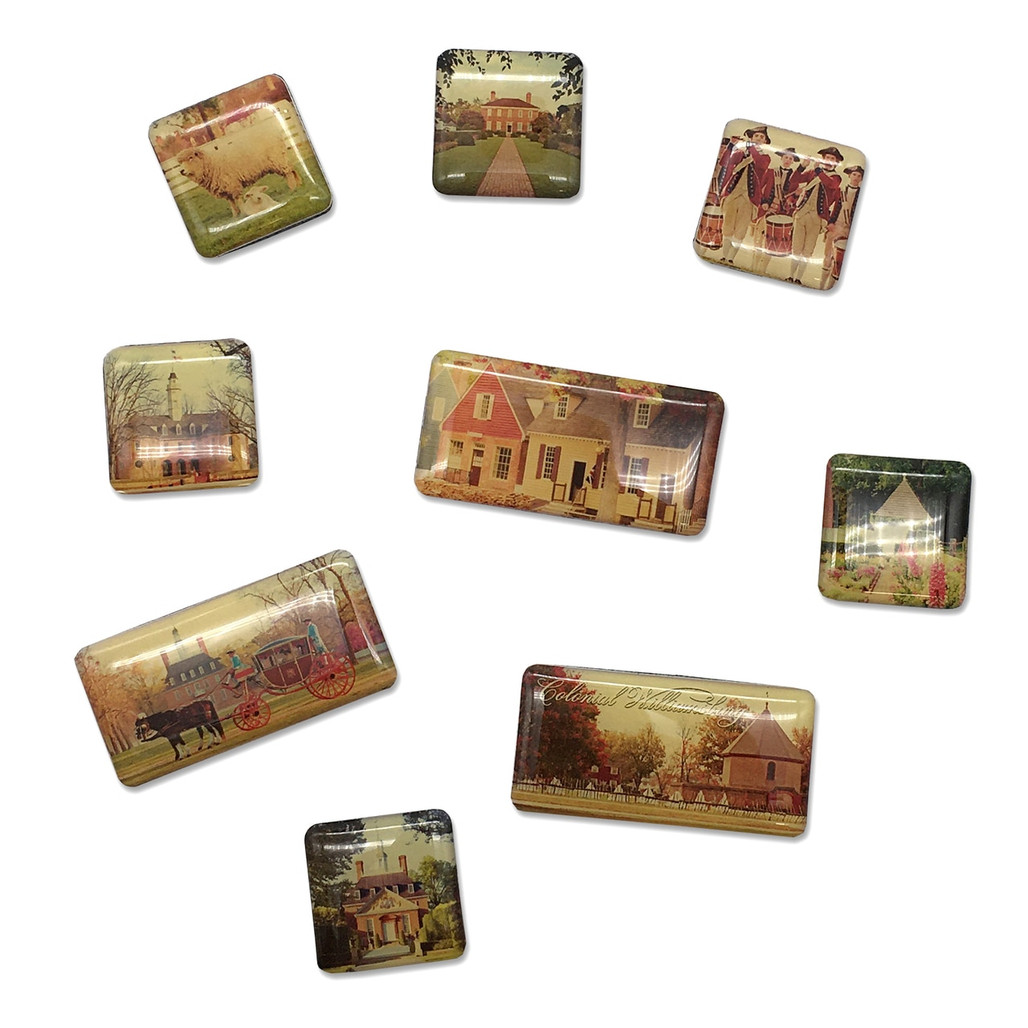 Colonial Williamsburg Mini Magnets   The Shops at Colonial Williamsburg